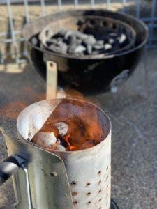 Heat Beads firing up to cook